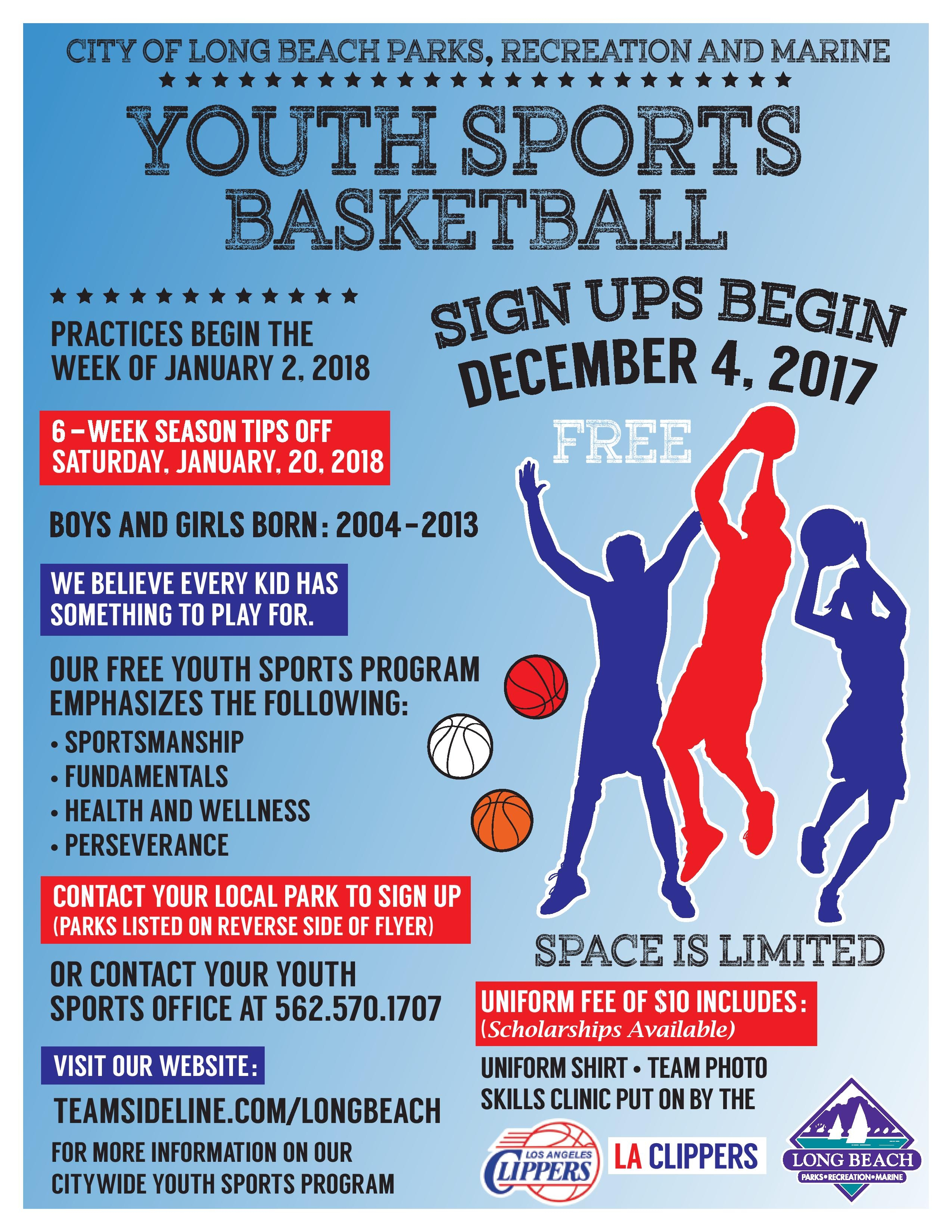 Long beach parks recreation sports registration date aiddatafo Gallery